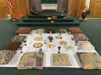 Seder Meal setting
