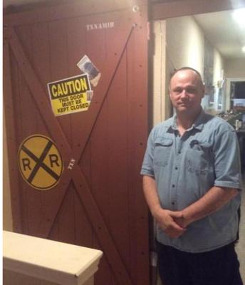 James and Sliding Train Door