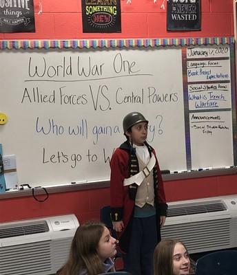 World War One in 5th grade!