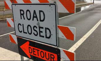 Mahalasville Road under construction