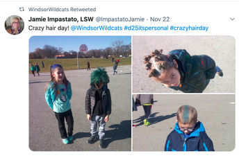 Wildcat Way Crazy Hair Day