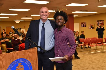 Mr. Lanier with Anthony Johnson