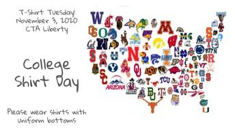 T-Shirt Tuesday Spirit Day - November 3rd