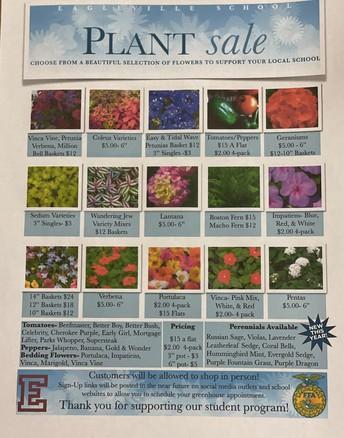 PLANT SALE BEGINS THURSDAY, APRIL 15TH.