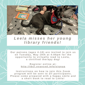 Read to Leela - on Zoom!