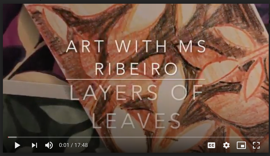 Art with Ms. Ribeiro: Layers of Leaves