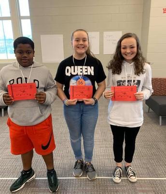 7th Grade Spelling Bee Winners