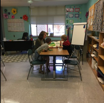 Mrs. Howell loves working with kinders!