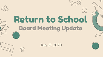 Update on the Return to School Plan