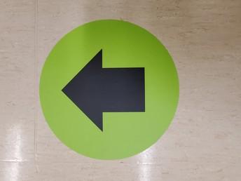 Please follow these arrows!