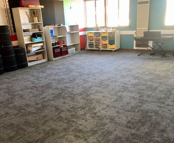 New carpet in the music room