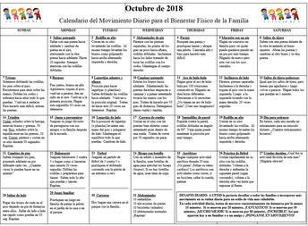 Calendario de Familia en Forma