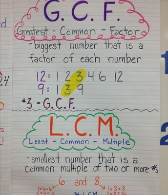 GCF and LCM