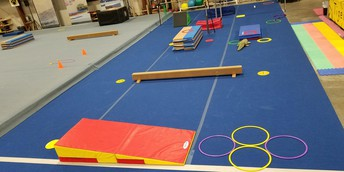 Example of Pre-school and Beginner Stations for Floor and Bars