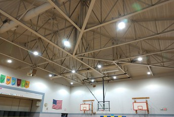 New LED lighting in the Elementary & Middle School Gyms.