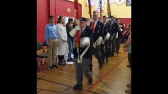 Colour Guard entrance