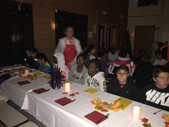 5th Grade Students at Dress Up Luncheon