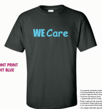 WE Care t-shirts