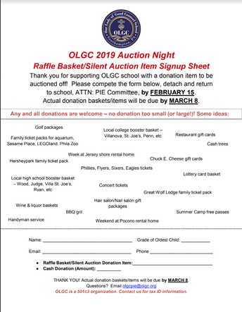 Auction Donation Form