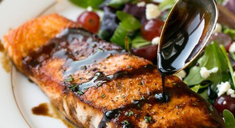 BALSAMIC GLAZED SALMON OR CHICKEN Is What's For Dinner this Wednesday Night!