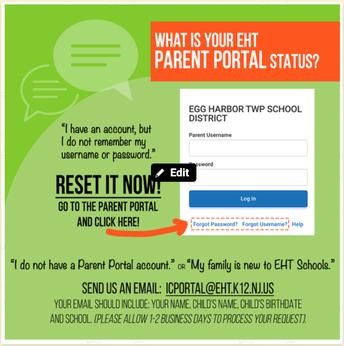 IC PARENT PORTAL ACCOUNT INFORMATION!
