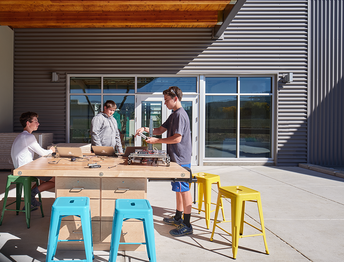 instruction, labs and experiments can move outside.