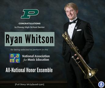 Poway HS Senior Selected for All-National Honor Ensemble