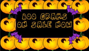 BOO Grams for Sale Oct. 14th - Oct 25th