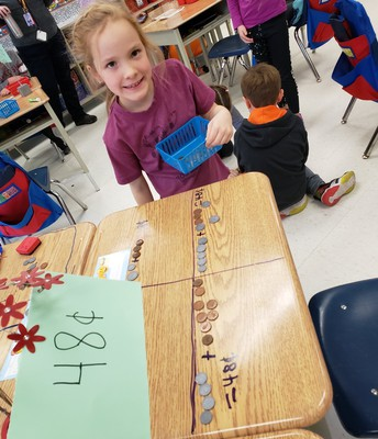 """Making """"cents"""" of math, demonstrating our numeracy thinking in many different ways"""