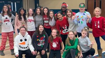 Holiday spirit in 6th grade!