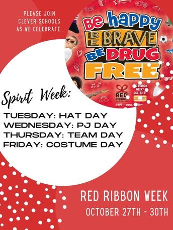 Red Ribbon Week Oct. 27-30