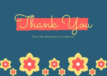 Meadows Foundation Thanks You!