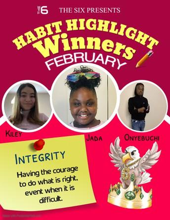 February Habit Highlight Winners