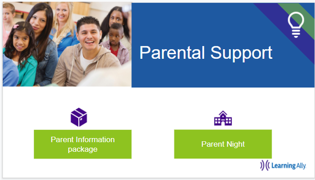 Learning Ally Parent Portal Screen