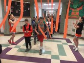 6th Grade Cheering on the 5th Grade!