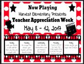 Teacher Appreciation Week May 8 - 12