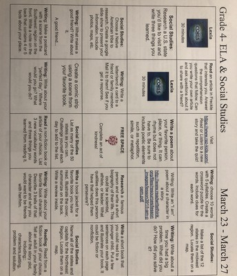 Direct Link to At-Home Learning BINGO cards