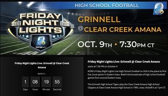CCA VS GRINNELL FOOTBALL & SENIOR NIGHT RECOGNITION