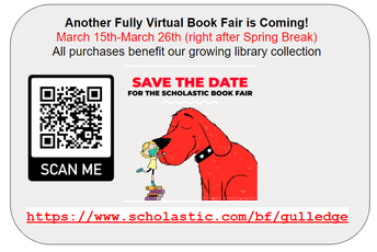Virtual Spring Scholastic Book Fair