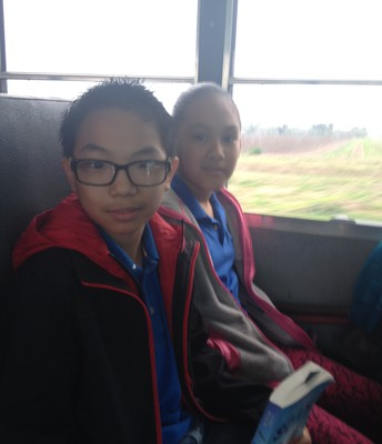 Students travel by bus