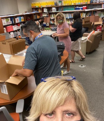 Preparing our 800 Wildcat iPads to be distributed.