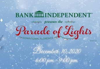 Florence Downtown Alliance Reverse Christmas Parade:  6:00 - 9:00 pm