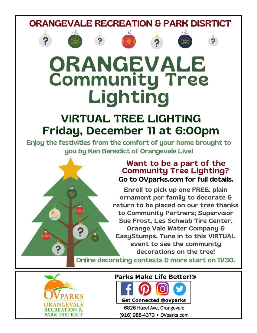 Orangevale Community Virtual Tree Lighting