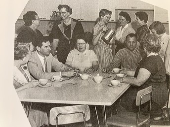 Dr. Stroh and Faculty, 1958