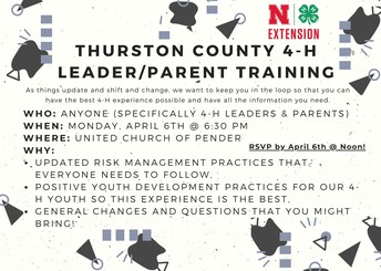 Thurston County 4-H Leader/Parent Training