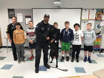 Monomoy Middle School students learn from local K-9 team