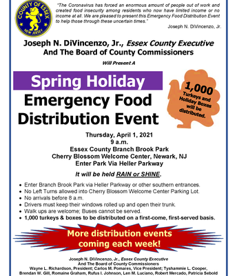 Spring Holiday Emergency Food Distribution, 4/1