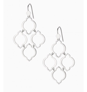 Arabesque Chandeliers-- Silver