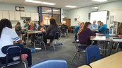 Math discussions with Ms. Frei and Mr. Middleton