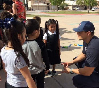 Chandler Fire visits Shumway Preschool